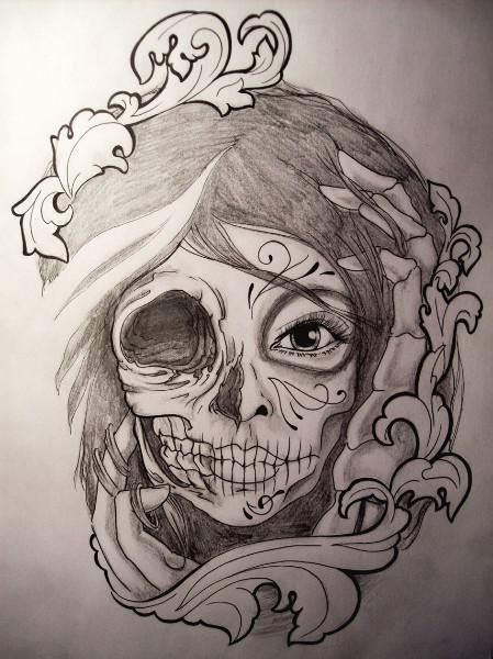 tattoo design drawings catrina drawing sketch tattoos and tattoo designs