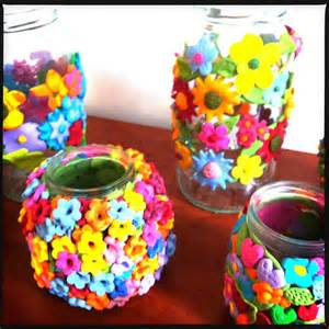 Icing Decorating Pen Flower Decorated Jars In Fimo Easy Decorated Jar Craft