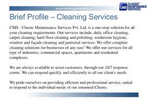 classic maintenance services pvt ltd presentation