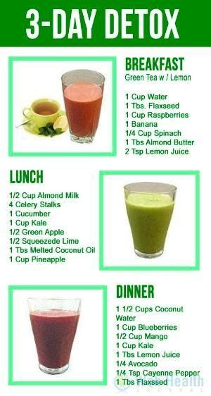 Recipes For Meals For Detox by 17 Best Ideas About Detox Diet Plan On Sugar