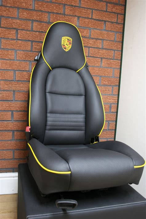 leather seat upholstery porsche 911 black leather seats with yellow piping trim