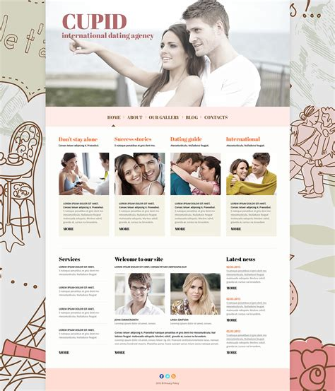10 Best Dating Website Themes Free Download Creative Template Dating Website Template