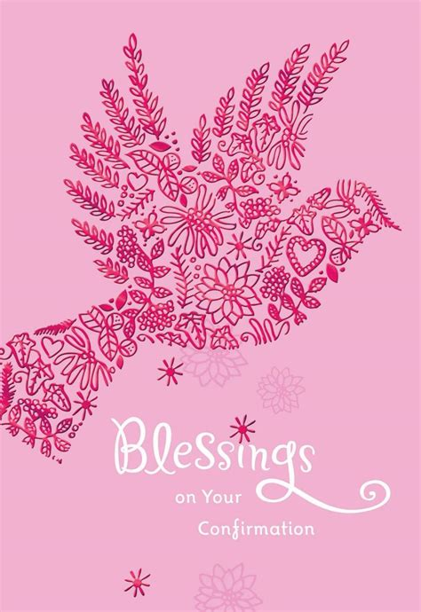 Pink Dove Blessings Onnfirmation Card For Her