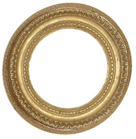 cornice rotonda piccola cornice rotonda intagliata e dorata xviii secolo
