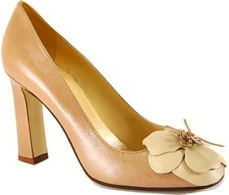 blush flower shoes kate spade zaria blush leather flower in orange