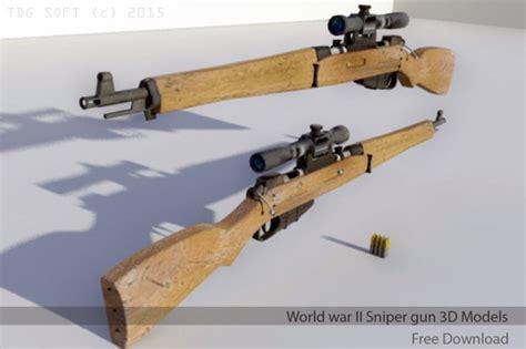 World war II Sniper gun   DownloadFree3D.com