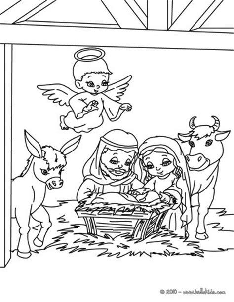 Nativity scene coloring