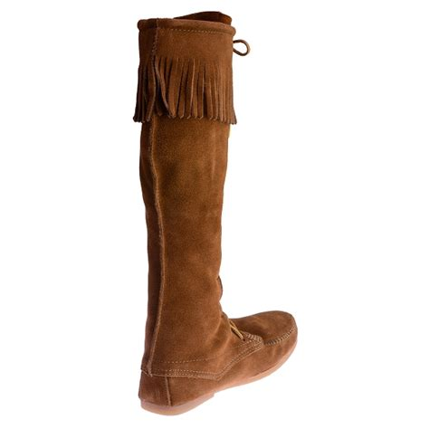 mens knee high moccasin boots minnetonka moccasins 1922 s knee high boot
