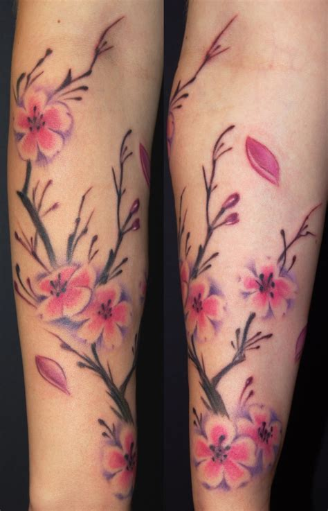 cherry blossom branch tattoo designs my designs cherry blossom tree