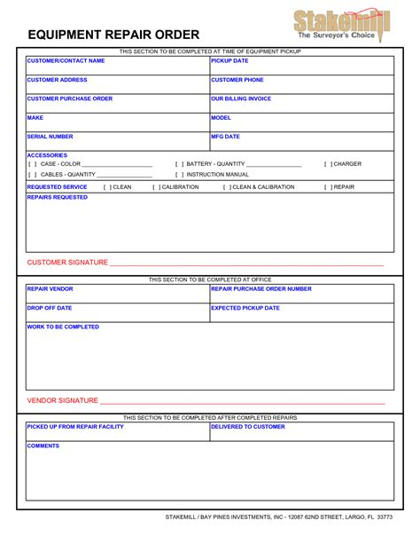 computer repair request form template best photos of equipment maintenance form exle