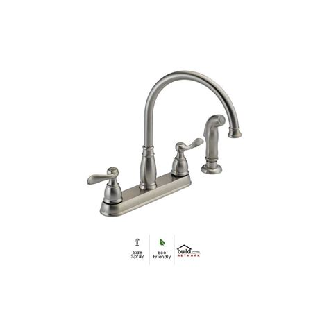 delta 21996lf chrome windemere kitchen faucet with side