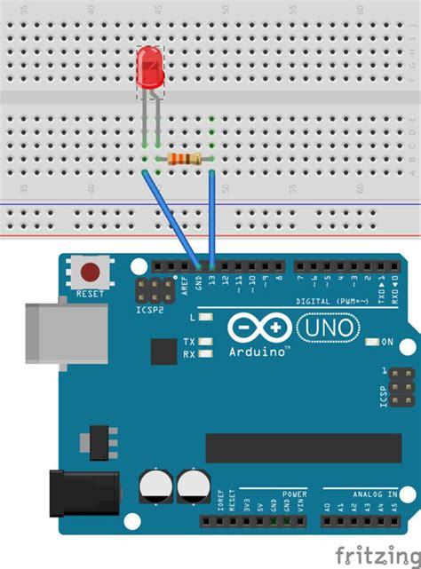 arduino tutorial blinking led basic led blinking w arduino princetronics