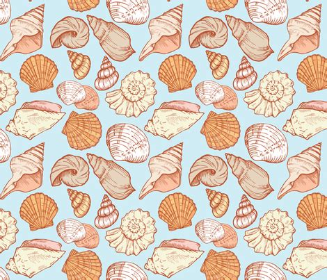 seashell color seashell color fabric minyanna spoonflower