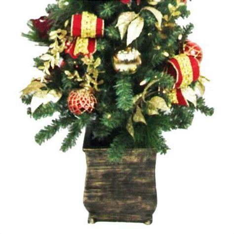 home accents holiday 4 ft battery operated plaza potted