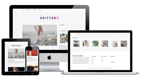 wordpress themes lifestyle blog free brittany light free fashion and personal lifestyle blog