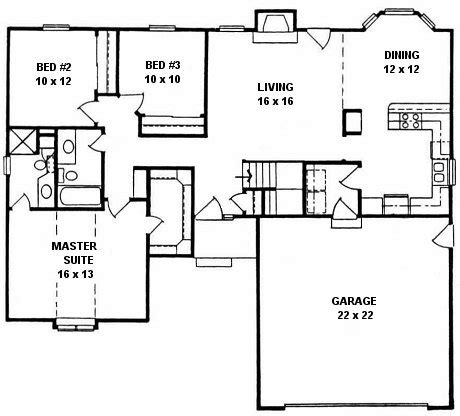bay window floor plan plan 1324 3 bedroom ranch w bay window
