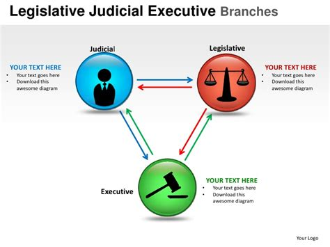 diagram of executive branch slide templates for powerpoint 2013 free