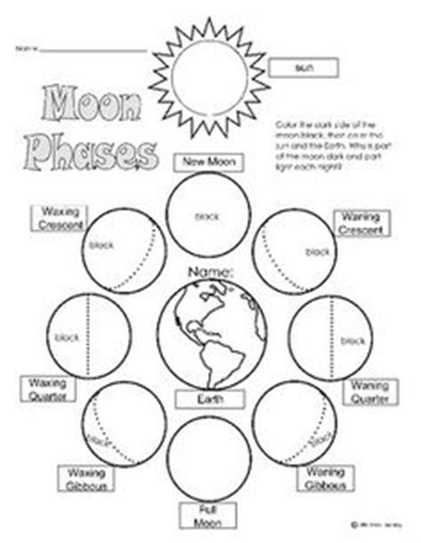 Moon Phases Worksheet Answers by Printable Moon Phase Calendar Worksheet Calendar