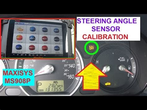 how to calibrate steering angle sensor with ms908