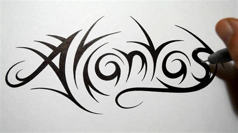 tribal name tattoo generator how to draw tribal names atlantas