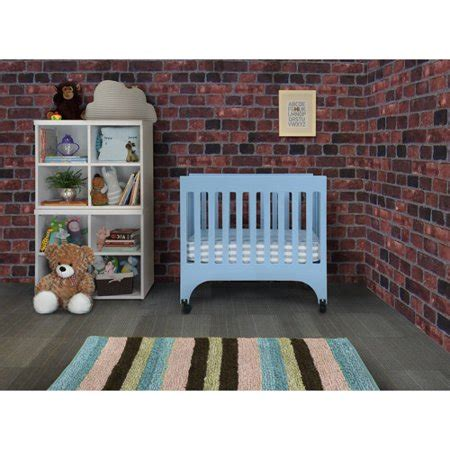 baby mod rainbow mini crib royal blue walmart