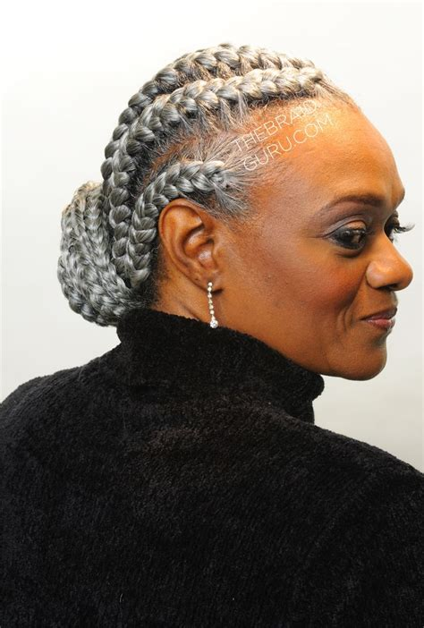 gray hair braided styles 17 best images about braids on pinterest protective