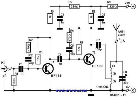 free electronic circuits mini fm radio transmitter circuit and description