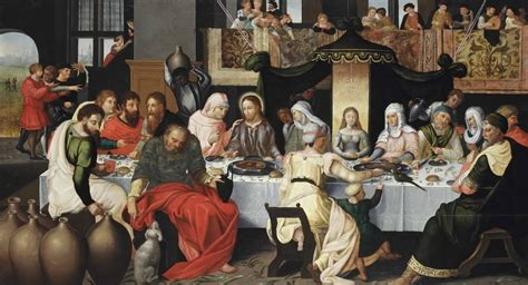 Wedding At Cana Meditation by Flemish School 16th Century The Wedding At Cana