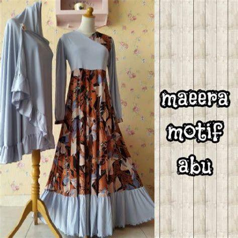 Dress Anak Wool High Quality Import Coklat Abu Premium maeera by aidha jual busana muslim