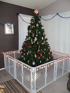 baby gate around tree this would be the only way we could