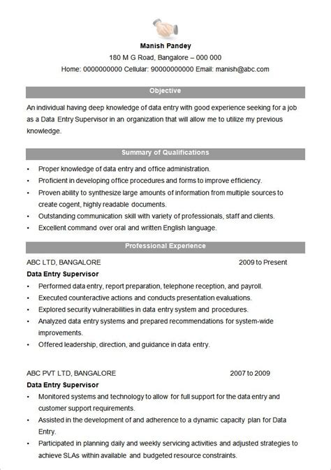 format of resume for best resume formats 47 free sles exles format
