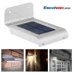 Motion Sensor Patio Light 16 Led Solar Power Motion Sensor Light Garden Wall L Security Shed Outdoor Ebay