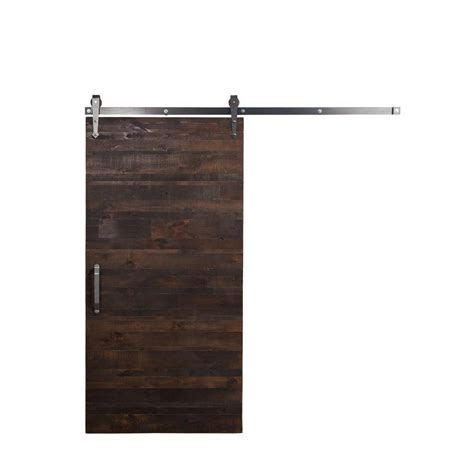Rustica Hardware 36 In X 84 In Rustica Reclaimed Stain Reclaimed Barn Door Hardware