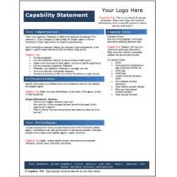 capability statement template word capability statement template targetgov capability