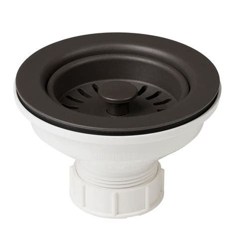 home depot kraus sink kraus 4 1 2 in kitchen sink strainer in brown pst1 br