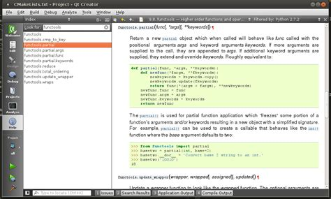 tutorial qt creator python github davidsansome pyqtc python browsing and code