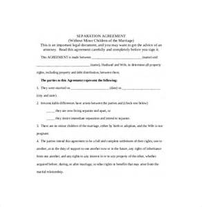 Marital Separation Agreement Template separation agreement template 10 free word pdf document download