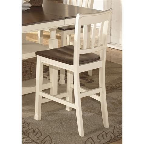 Whitesburg Bar Stool by Whitesburg 24 Quot Rake Back Counter Stool In Brown And
