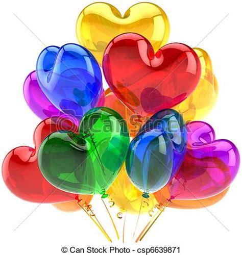 imagenes de corazones metalicos stock de fotograf 237 a de corazones globos forma fiesta