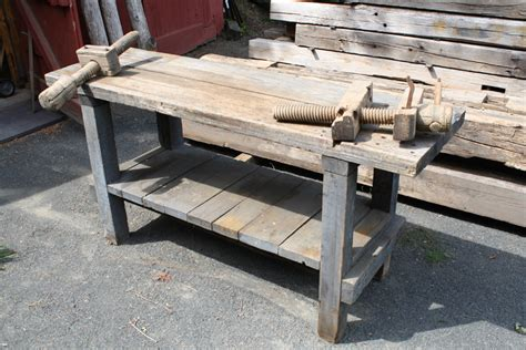 old wooden work bench antique workbench transformation finewoodworking
