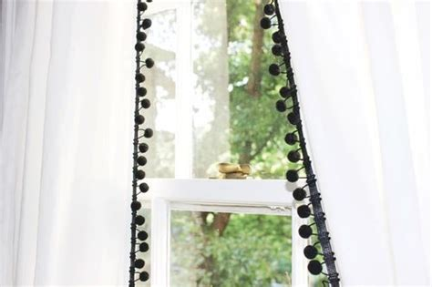 white curtains with pom poms 17 best ideas about pom pom curtains on pinterest window