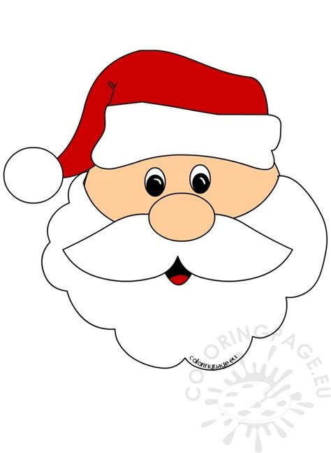 printable santa face santa claus face cut out coloring page