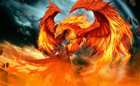 the phoenix and the fire phoenix animated wallpaper desktopanimated com