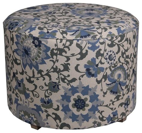pattern for fabric pouf zeckos round ottoman black white paisley pattern fabric