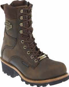 mens brown motorcycle boots harley davidson men s tyson 7 5 inch brown logger style