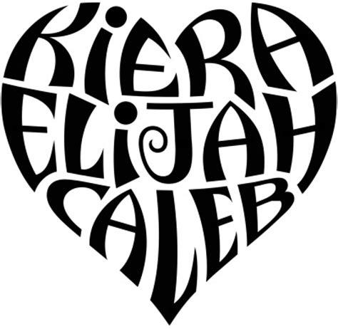 quot kiera quot quot elijah quot amp quot caleb quot heart design a custom
