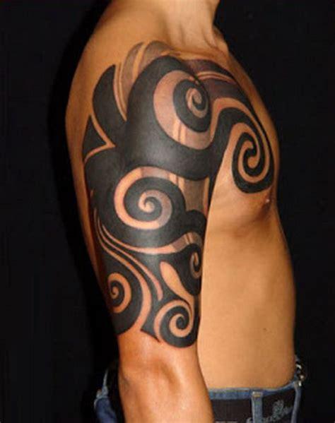 tribal quarter sleeve tattoo designs tribal half sleeve tattoos for men sleeve tattoos