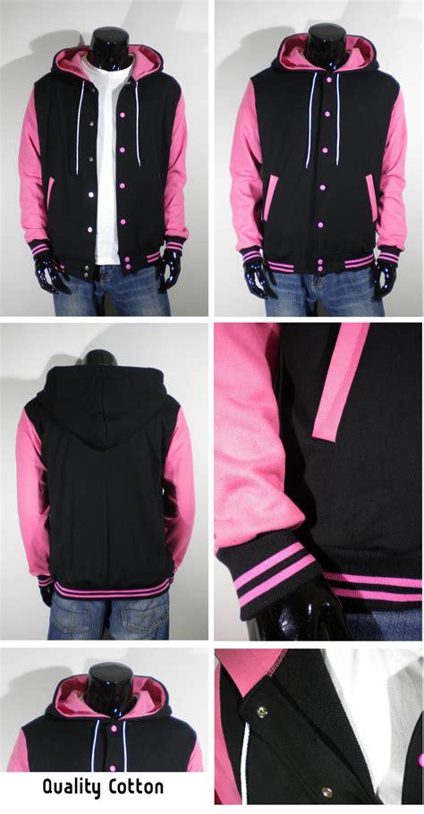 Jaket Hoodie Jkt 48 Import Quality 3 mens varsity letterman hoodie baseball jacket quality