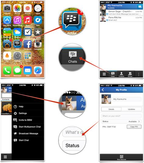 How To Find On Bbm How To Set Up And Start Using Bbm For Iphone Imore