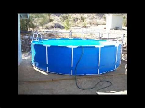 31 X 42 Frame by Intex 15 X 42 Quot Steel Frame Above Ground Pool Unboxing